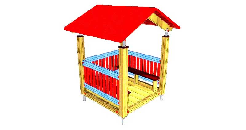 lesena hiška za otroke